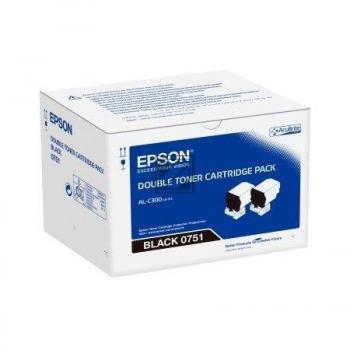 Epson Toner-Kit 2 x schwarz (C13S050751, 0751)