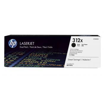 HP Toner-Kartusche 2x schwarz HC (CF380XD, 312XD)