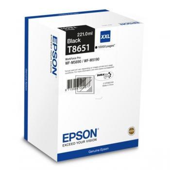 Epson Tintenpatrone Ultra Chrome schwarz HC (C13T865140, T8651)