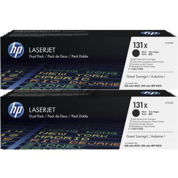 HP Toner-Kartusche 2x schwarz 2-er Pack HC (CF210XD, 2x 131X)