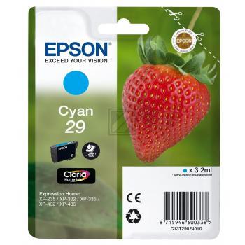 Epson Tintenpatrone cyan (C13T29824010, T2982)
