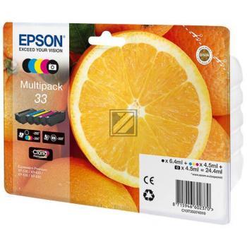 Epson Tintenpatrone gelb cyan magenta schwarz photo schwarz (C13T33374010, T3337)