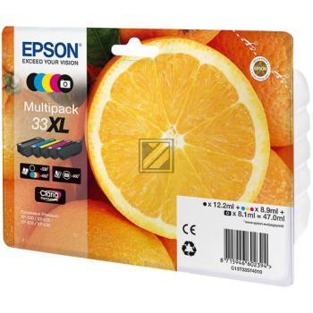 Epson Tintenpatrone gelb cyan magenta schwarz photo schwarz HC (C13T33574010, T3357)