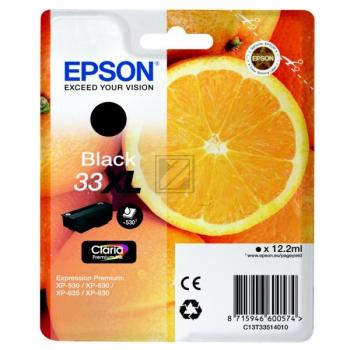 Epson Tintenpatrone schwarz HC (C13T33514010, 33XL T3351)