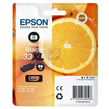 Epson Tintenpatrone photo schwarz HC (C13T33614010, T3361)