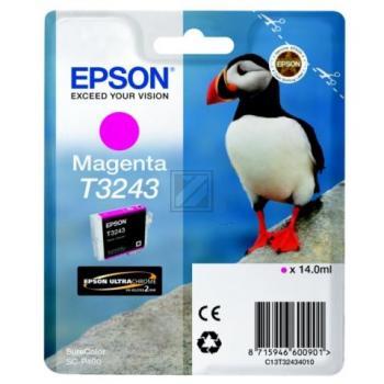 Epson Tintenpatrone magenta (C13T32434010, T3243)