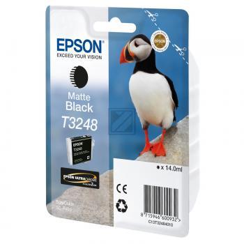 Epson Tintenpatrone schwarz matt (C13T32484010, T3248)