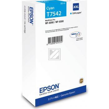 Epson Tintenpatrone cyan HC plus (C13T754240, T7542)