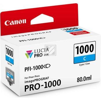 Canon Tintenpatrone cyan (0547C001, PFI-1000C)