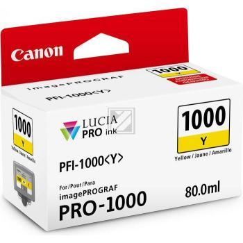 Canon Tintenpatrone gelb (0549C001, PFI-1000Y)