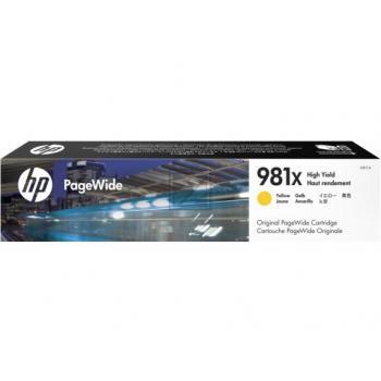 Tinte f. HP PageWide Enterprise Color 556/586 [L0R11A] HC Nr.981X yellow