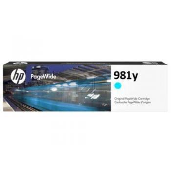 HP Tintenpatrone cyan HC plus (L0R13A, 981Y)