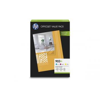 HP Tintenpatrone + Papier gelb cyan magenta HC (1CC20AE, 903XL)