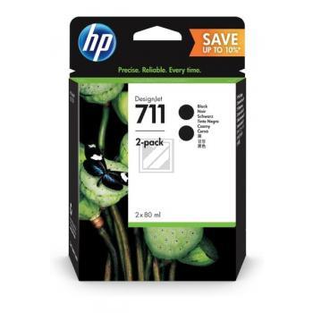 HP Tintenpatrone 2 x schwarz (P2V31A, 711)