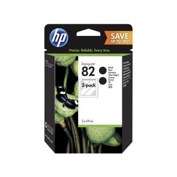 HP Tintenpatrone 2 x schwarz (P2V34A, 2 x 82)