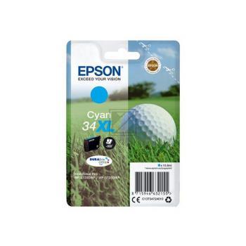 Epson Tintenpatrone Golf Ball cyan HC (C13T34724010, T3472)