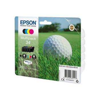 Epson Tintenpatrone Golf Ball gelb cyan magenta schwarz (C13T34664010, T3466)