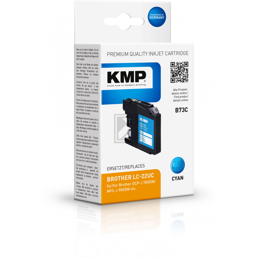 KMP Tintenpatrone cyan (1536,4003, B73C)