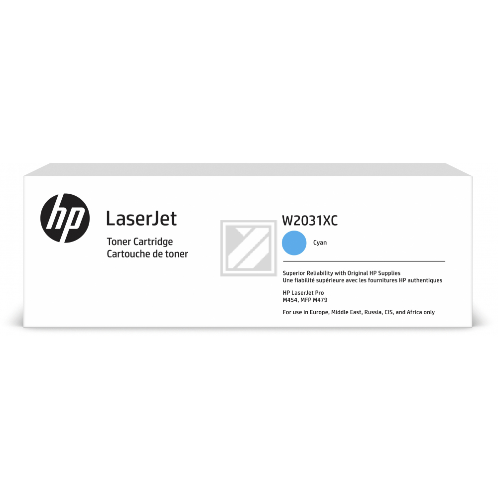 W2031XC HP LJ PROM454 CARTRIDGE CYAN HC / W2031XC
