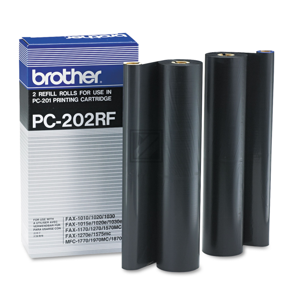 Brother Thermo-Transfer-Rolle 2 x schwarz 2-Pack (PC-202RF)