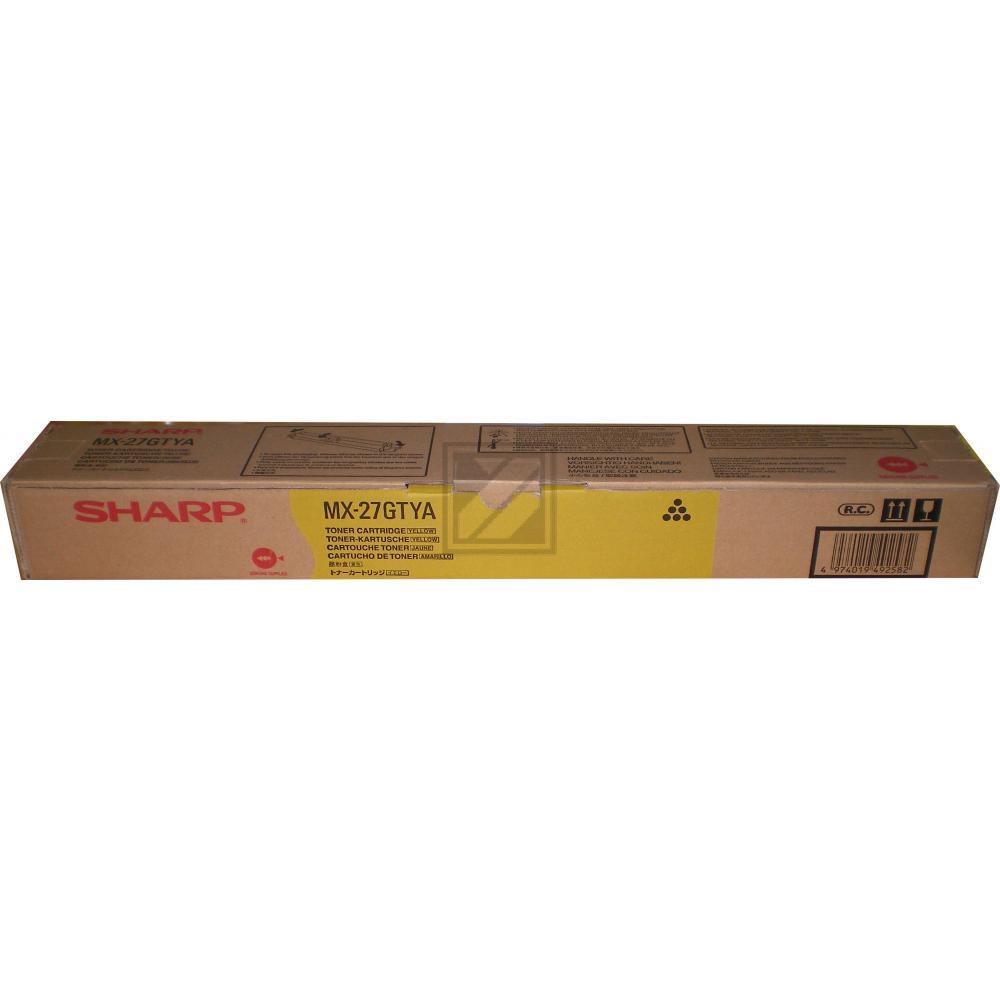 Original Sharp MX-27GTYA Toner Gelb