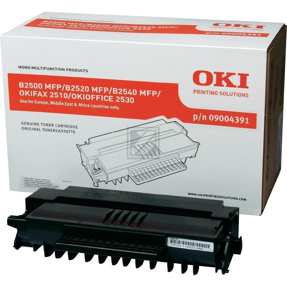 OKI 09004391 | 4000 Seiten, OKI Tonerkassette, schwarz