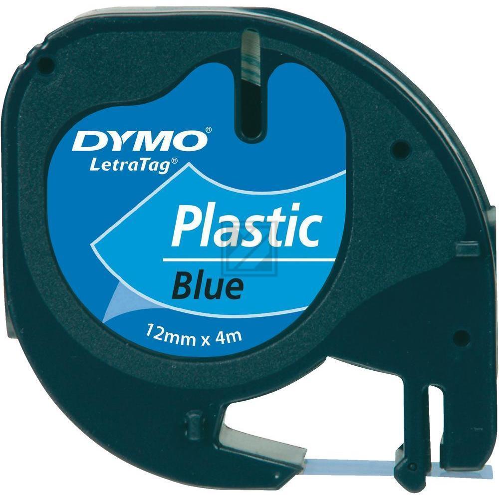 Original Dymo 91225 / S0721700 LetraTAG Kunststoffband 12 mm blau
