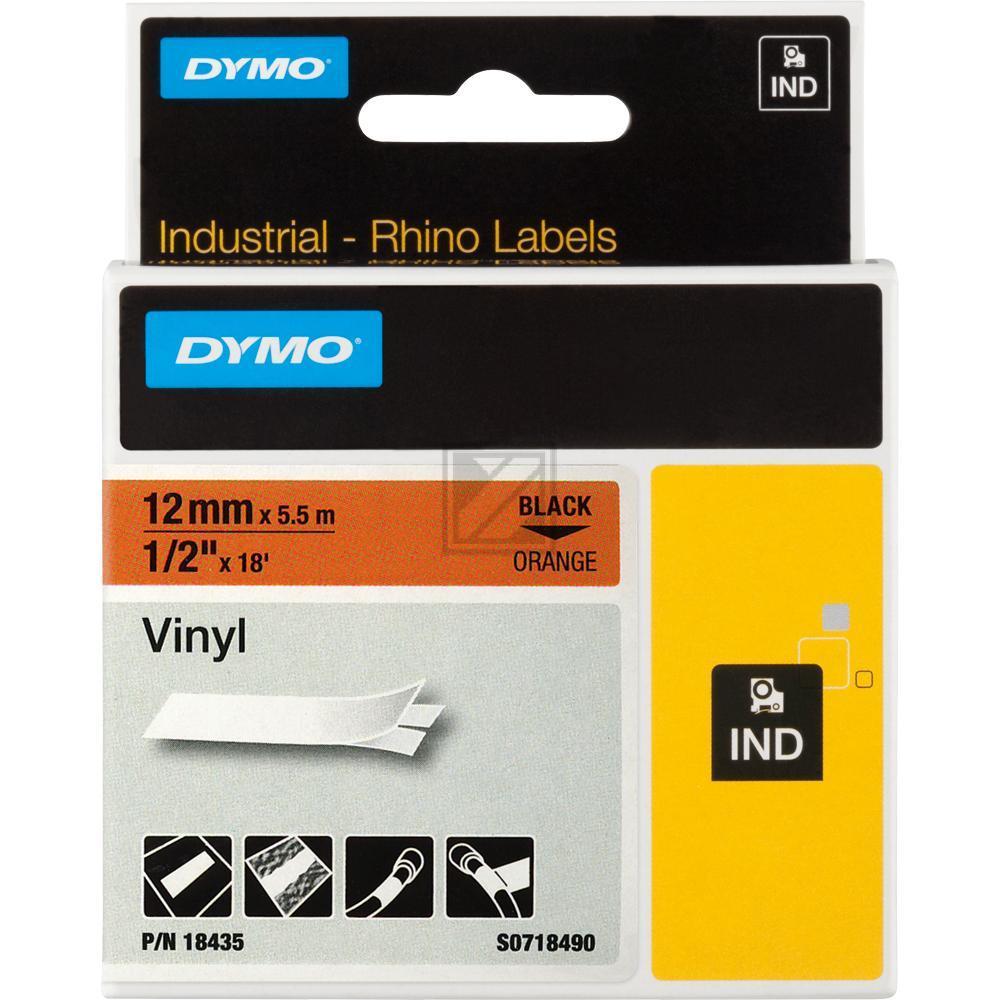 Original Dymo 18435 / S0718490 RHINO Farbband Vinyl 12mm orange