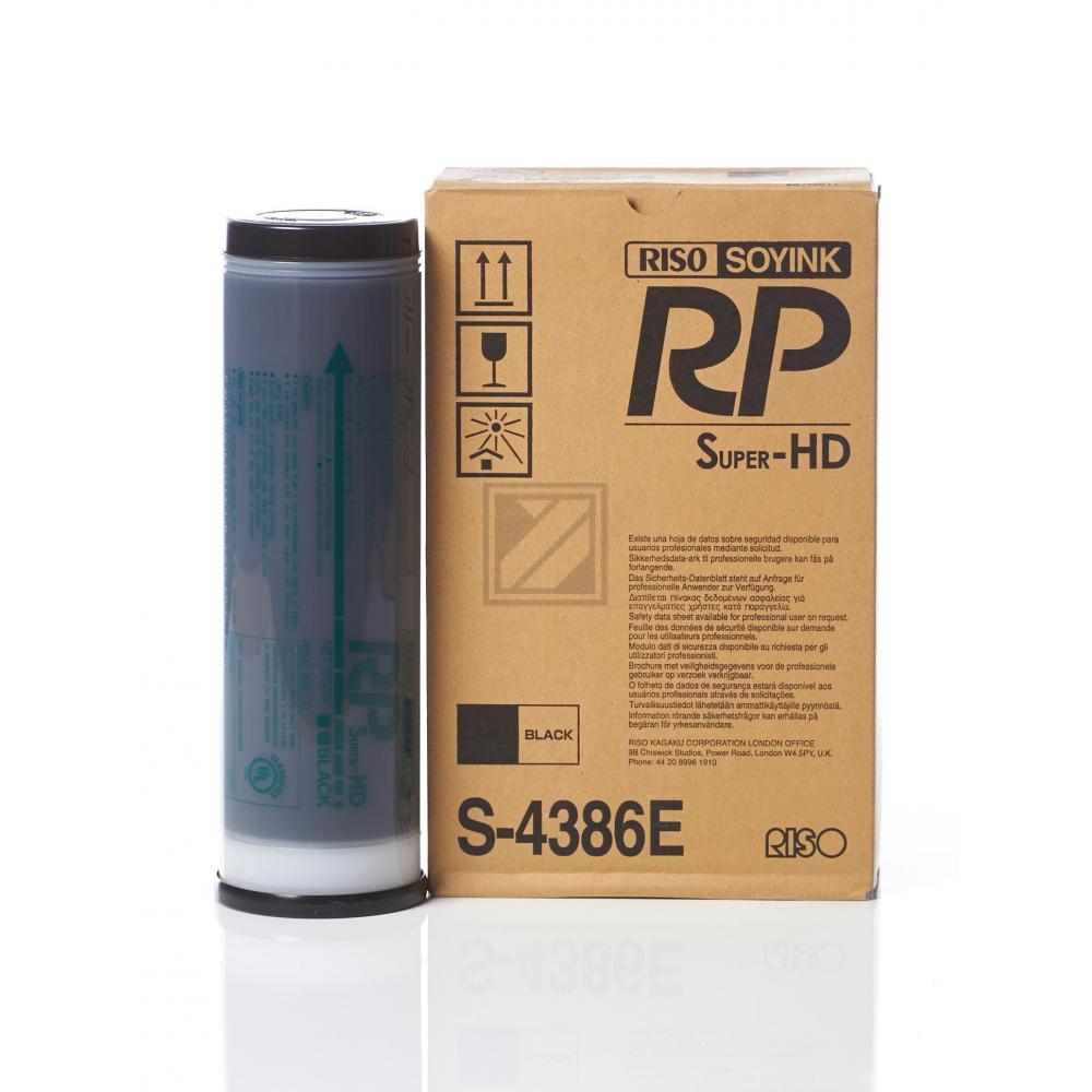 Original Riso S-4386E Tinte Black 2 x 1000 ml
