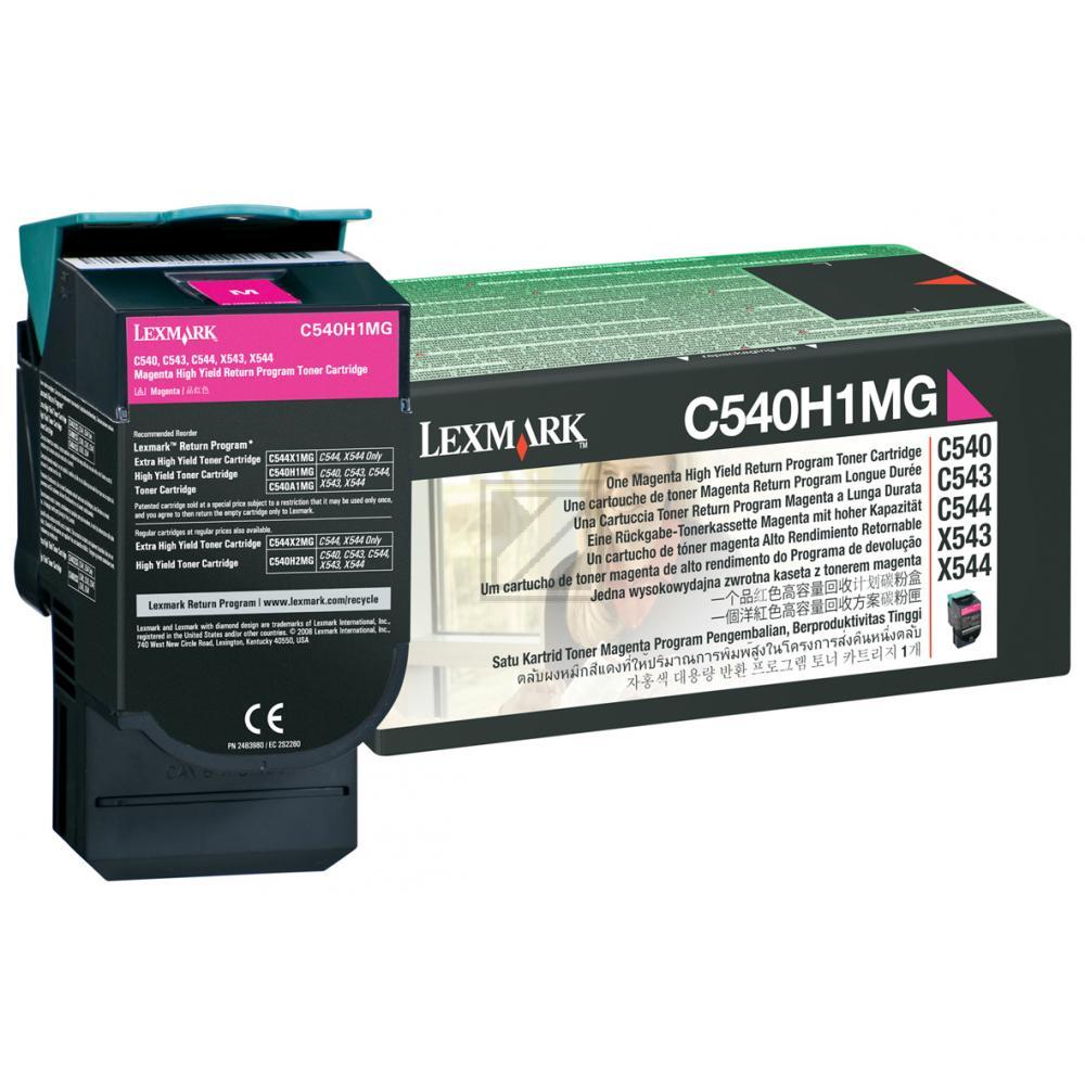 Original Lexmark 0C540H1MG Toner Magenta