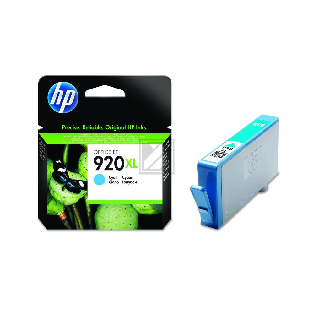 HP Tintenpatrone cyan HC (CD972AE, 920XL)