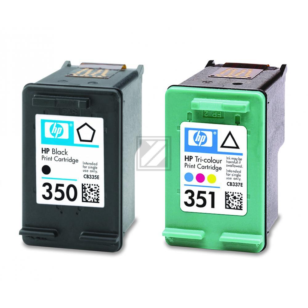 HP Tintenpatrone cyan/gelb/magenta (SD412EE, 350 351)