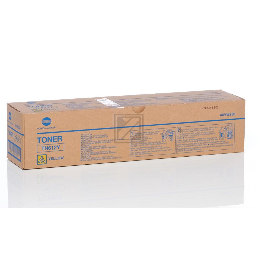 Original Konica Minolta A0VW250 / TN612Y Toner Yellow
