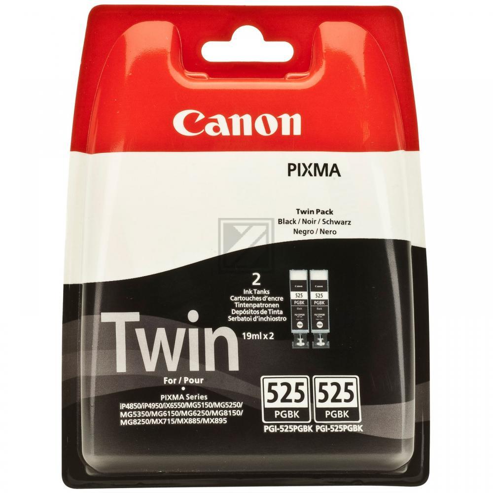 Canon Tintenpatrone 2 x schwarz (4529B010, 2 x PGI-525PGBK)