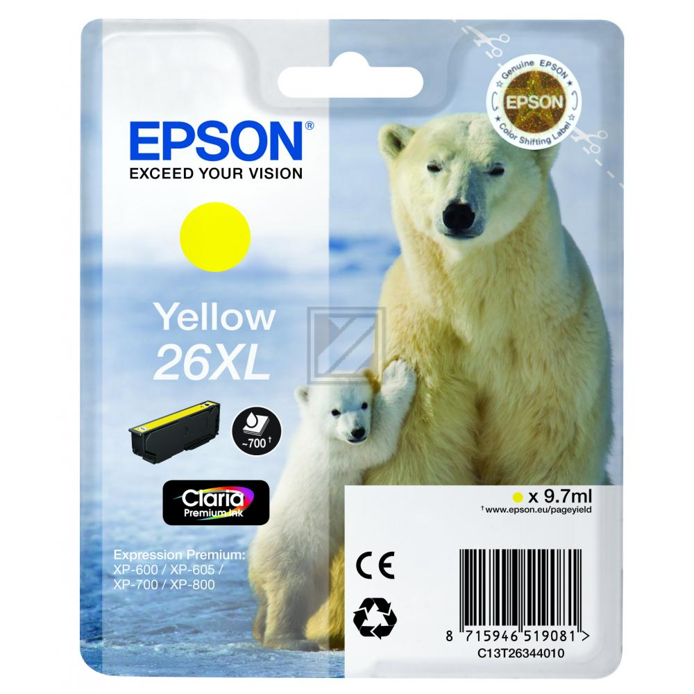 Original Epson C13T26344010 / 26XL Tinte Gelb XL