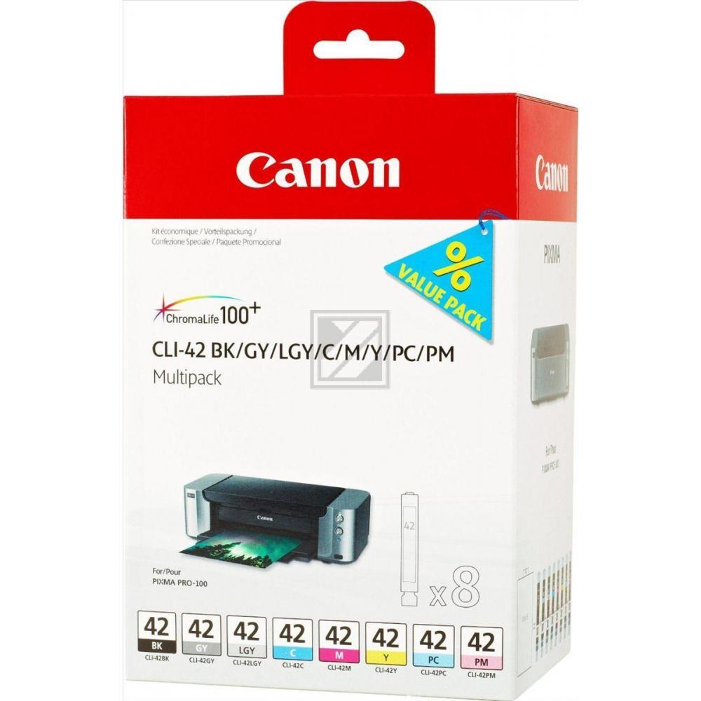 Original Canon 6384B010 / CLI-42 Tinten Multipack (alle Farben) 8 Stück