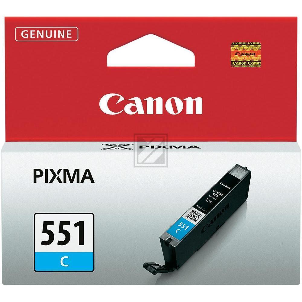 Original Canon 6509B001 / CLI-551C Tinte Cyan