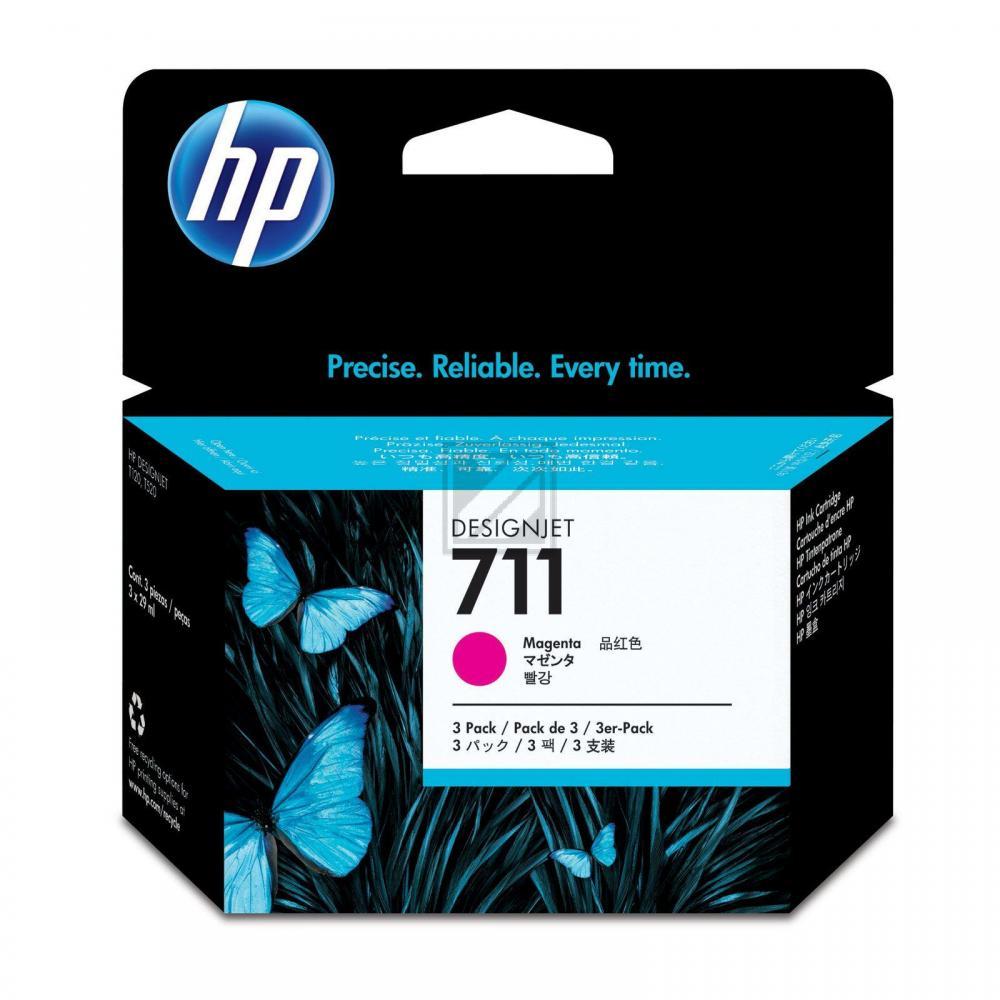 Original HP CZ135A / 711 Tinte Magenta 3er Set