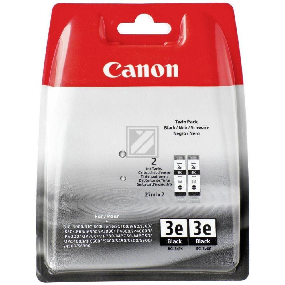 Canon Tintenpatrone schwarz 2-er Pack (4479A298, BCI-3EBK)