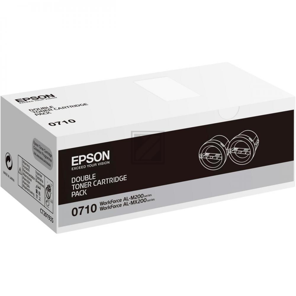 Original Epson C13S050710 / S050710 Toner Schwarz 2er Set