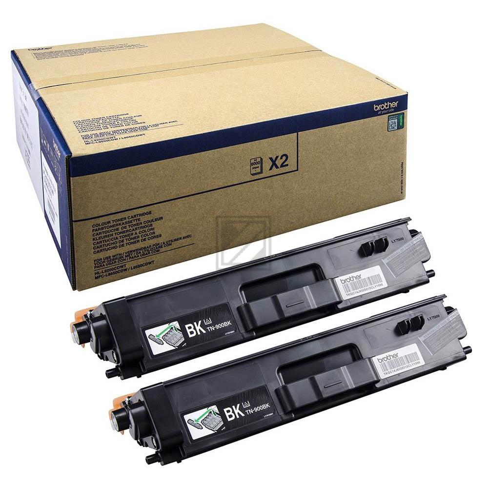Brother Toner-Kit 2 x schwarz 2-Pack (TN-900BKTWIN)