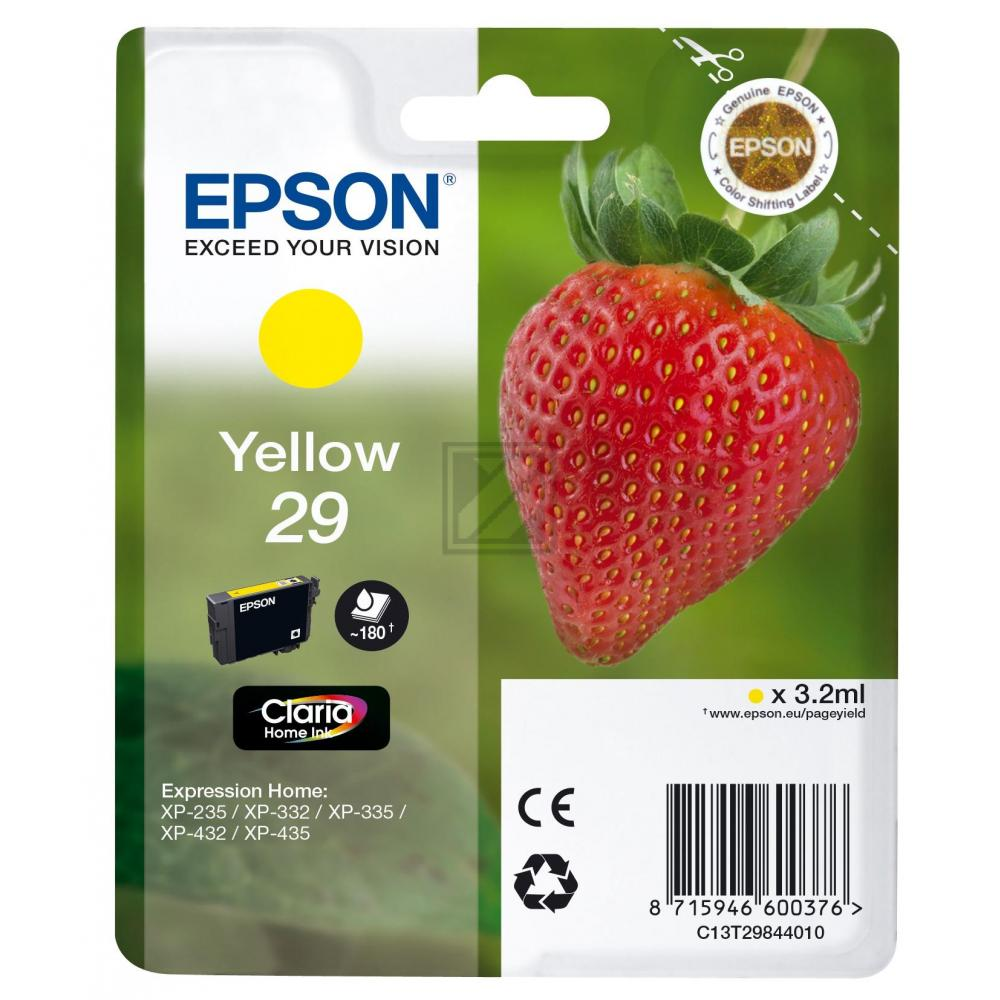 Original Epson C13T29844010 / T298440 Tinte Yellow