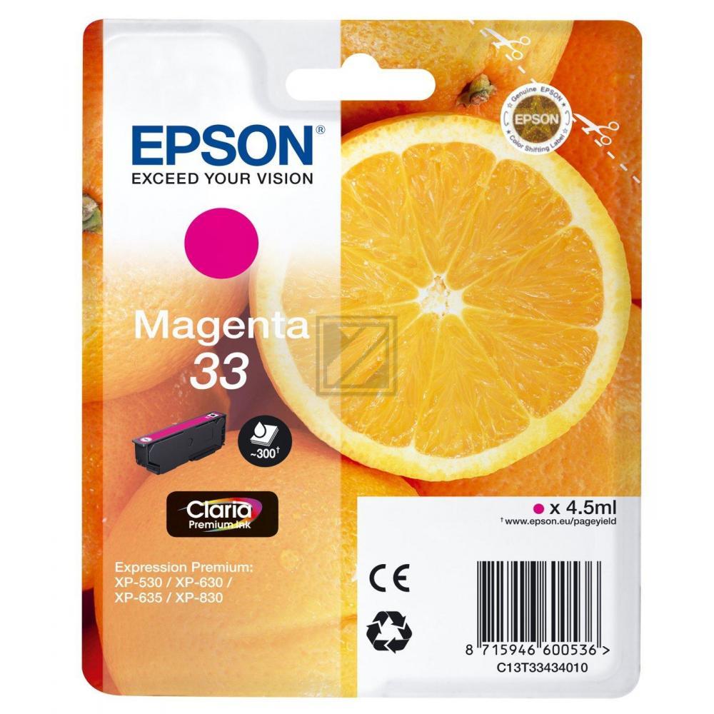 Original Epson C13T33434010 / 33 Tinte Magenta