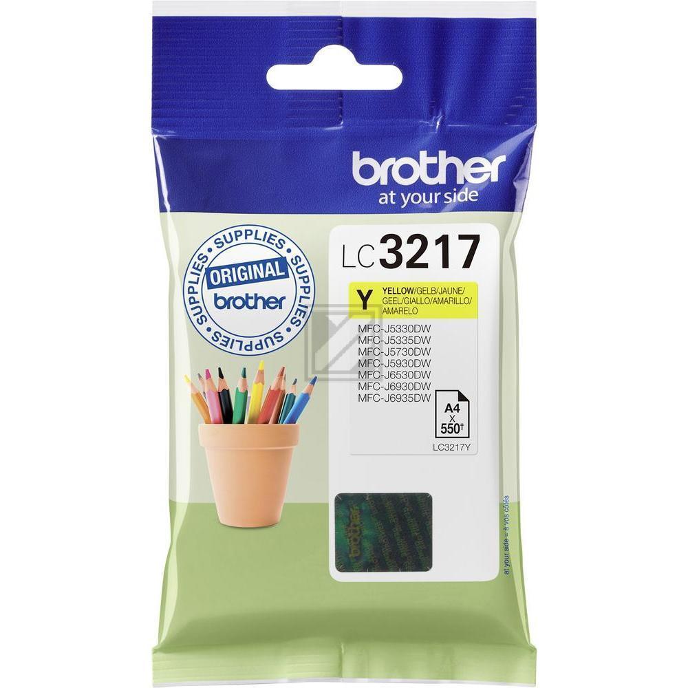 Brother Tintenpatrone gelb (LC-3217Y)