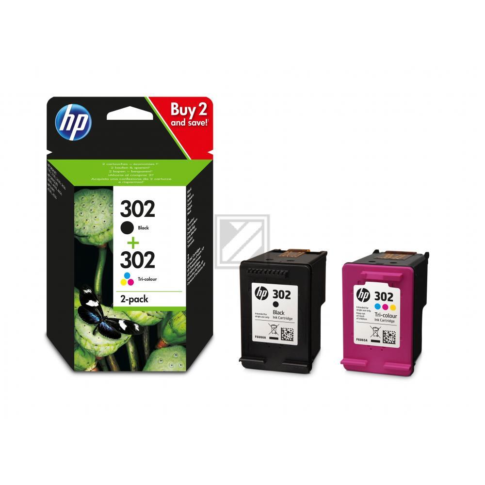 HP Tintendruckkopf cyan/gelb/magenta schwarz (X4D37AE, 302)