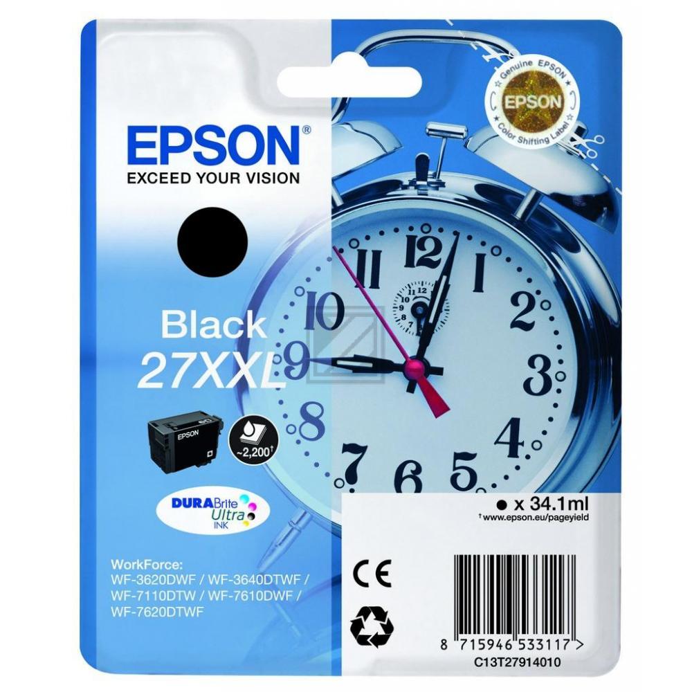 Epson Tintenpatrone schwarz HC plus (C13T27914012, T2791)