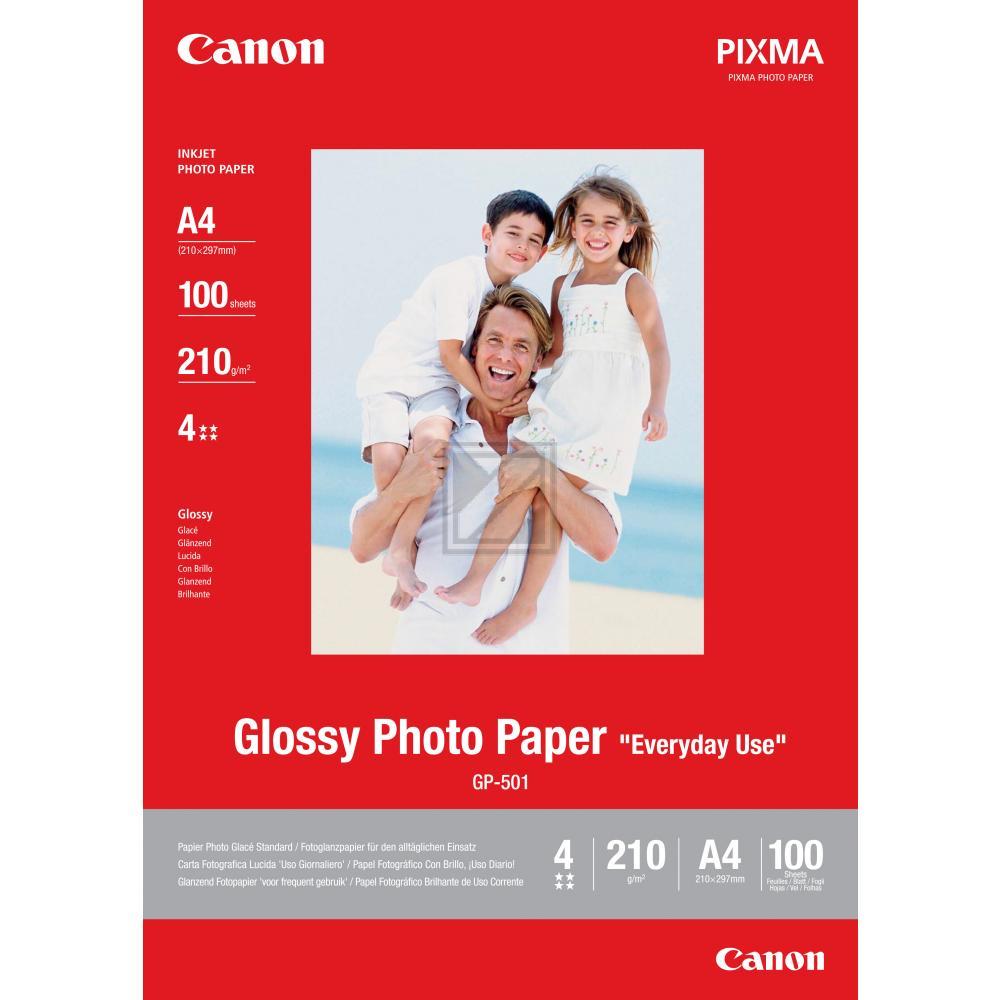 Canon GP501   10x15   200g   100 Blatt, Canon Fotopapier Glossy Everyday Use 10 x 15