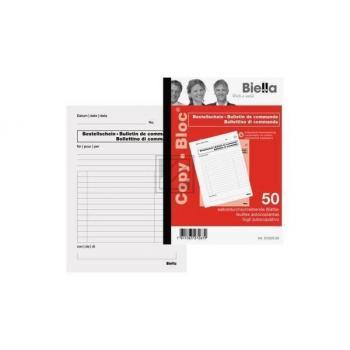 BIELLA Bestellschein COPY-BLOC D/F A5 510525.00 selbstdurchschreib. 50x2 Blatt