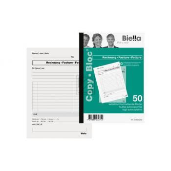 BIELLA Rechnung COPY-BLOC D/F A5 513525.00 selbstdurchschreib. 50x2 Blatt