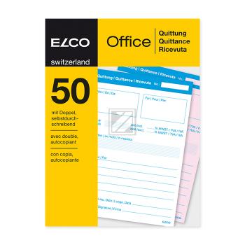 ELCO Quittung A6 74591.19 60g 50x2 Blatt